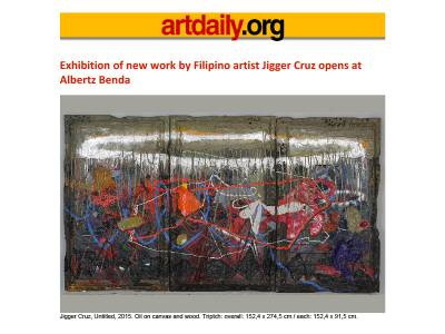 Exhibition of new work by Filipino artist Jigger Cruz opens at Albertz Benda